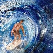 Картины и панно ручной работы. Ярмарка Мастеров - ручная работа бегущий по волнам. Продано. Handmade.