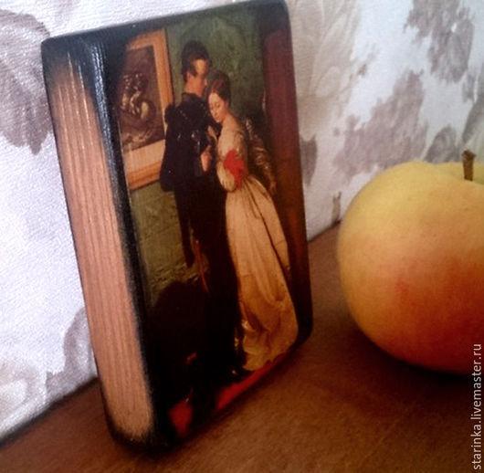 Репродукции ручной работы. Ярмарка Мастеров - ручная работа. Купить Маленькое панно на дереве Репродукция на дереве. Handmade. Комбинированный, массив