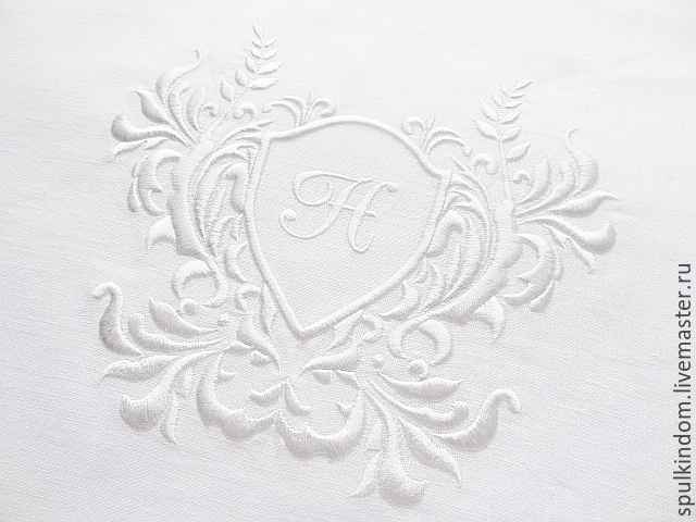 Track with bulk embroidery`, the Monogram of Notre Dame ` `Sulkin house` embroidery workshop