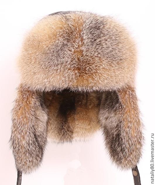Шапки ручной работы. Ярмарка Мастеров - ручная работа. Купить Мужская шапка Малахай из gray fox.. Handmade. Серый
