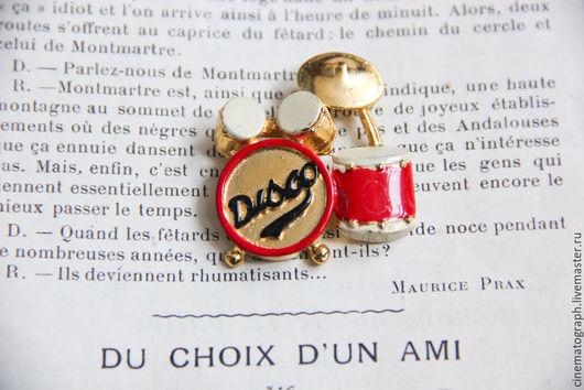 Винтажные украшения. Ярмарка Мастеров - ручная работа. Купить Брошь DISCO FRANCE винтаж. Handmade. Комбинированный, брошь, винтаж