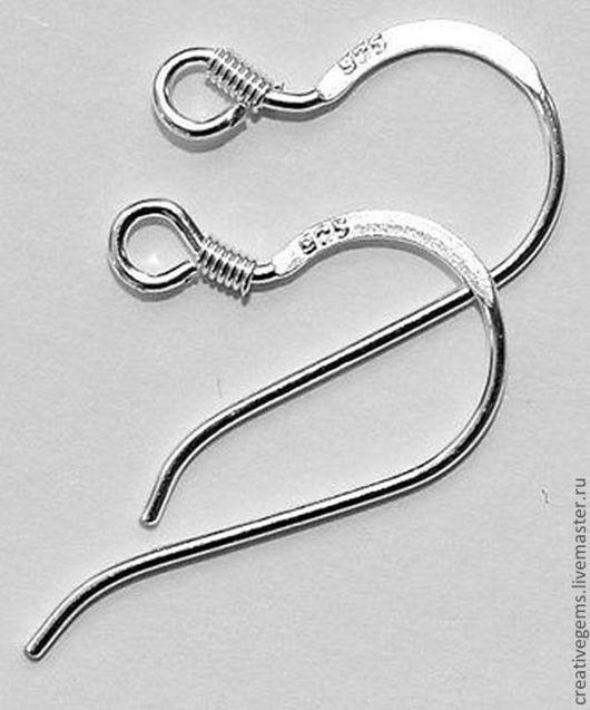 Артикул 33016 Швензы из 925 серебра  Размер 21x13 мм. Купить швензы серебра 925 пробы для сережек! Купить замочки для сережек!