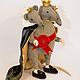 Мишки Тедди ручной работы. Мышиный Король. Vikulind. Интернет-магазин Ярмарка Мастеров. Мышь, мышка тедди, щелкунчик, подарок