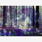Картины и панно handmade. Livemaster - original item Landscape in cool tones. Handmade.