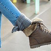 Leg warmers handmade. Livemaster - original item Scarves for the ankles. Handmade.
