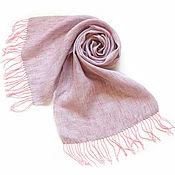 Аксессуары handmade. Livemaster - original item Linen grey-pink scarf. Handmade.