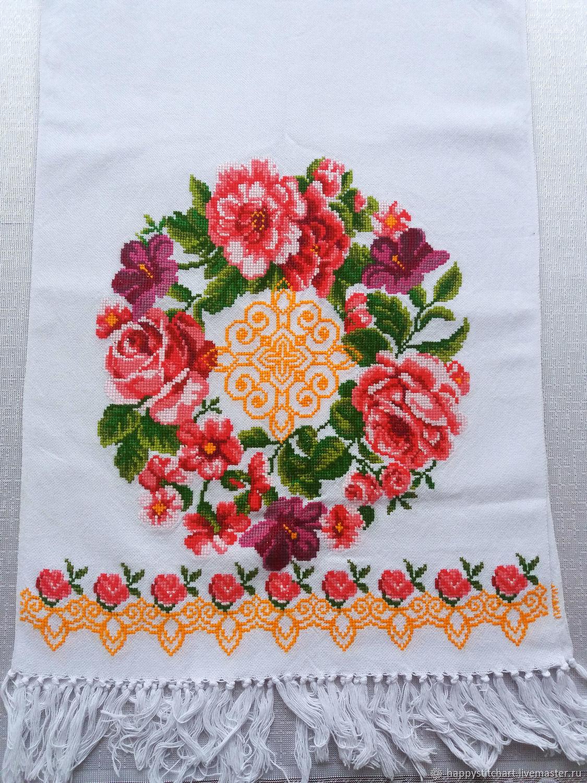 Рушник 8 с ручной вышивкой крестом, Рушники свадебные, Гайсин,  Фото №1