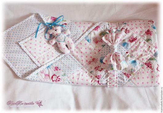 """Для новорожденных, ручной работы. Ярмарка Мастеров - ручная работа. Купить Одеяло-конверт """"Веселые джунгли"""". Handmade. Комбинированный"""