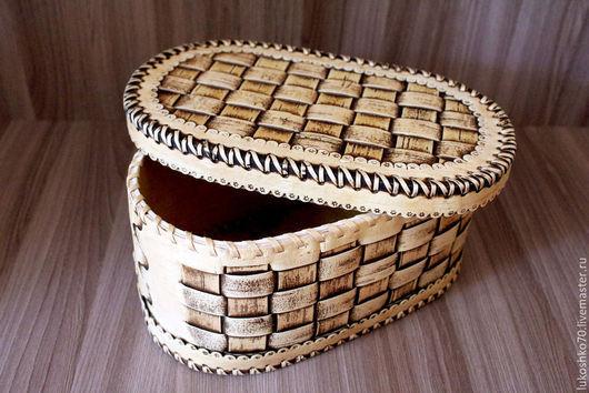Кухня ручной работы. Ярмарка Мастеров - ручная работа. Купить Хлебница плетеная из бересты. Большая шкатулка.. Handmade. Хлеб, береста