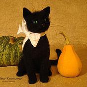 Куклы и игрушки ручной работы. Ярмарка Мастеров - ручная работа Черный кот Счастливчик. Handmade.