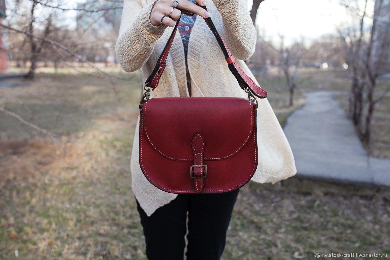 Women's leather Saddle bag, Classic Bag, Volgograd,  Фото №1
