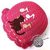 Работы для детей, ручной работы. Ярмарка Мастеров - ручная работа Панамка для девочки ягодного цвета. Handmade.