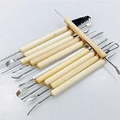 Набор инструментов для лепки, резьбы, моделирования двусторонние 11шт.
