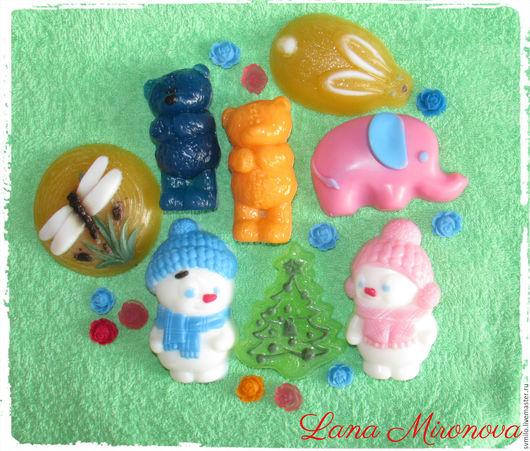 Мыло ручной работы. Ярмарка Мастеров - ручная работа. Купить Мыло ручной работы - животные), снеговики, ёлочки..... Handmade.