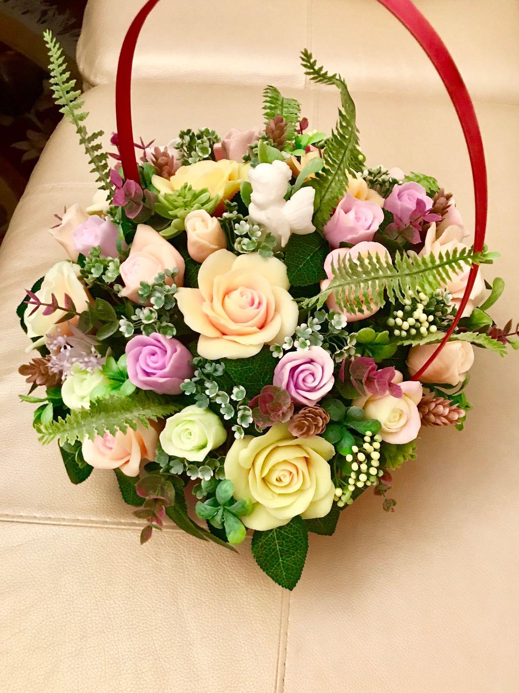 Букет цветов из мыла ручной работы, Мыло, Москва, Фото №1