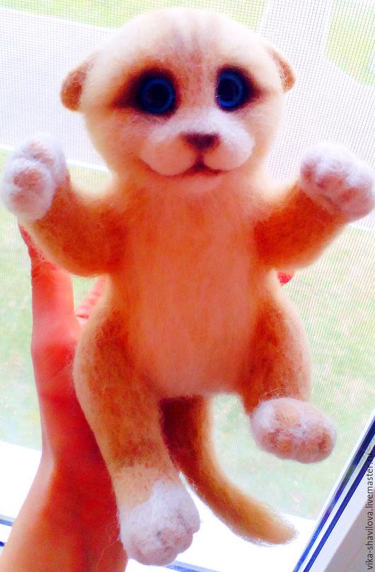 Игрушки животные, ручной работы. Ярмарка Мастеров - ручная работа. Купить Котёнок Тимка. Handmade. Бежевый, котенок, теплый подарок