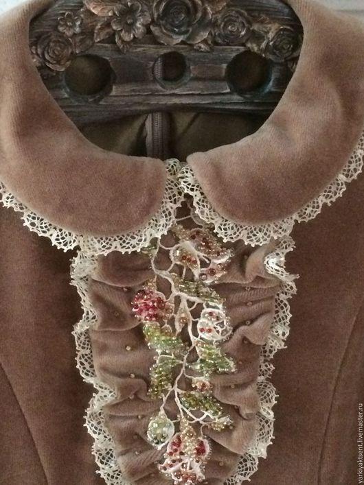Одежда для девочек, ручной работы. Ярмарка Мастеров - ручная работа. Купить Платье ПЛТБ 1042. Handmade. Бежевый, Вышивка бисером