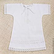 Работы для детей, ручной работы. Ярмарка Мастеров - ручная работа Крестильная рубашка Классика, есть комплект. Handmade.