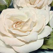 Украшения ручной работы. Ярмарка Мастеров - ручная работа шпильки с кремовыми розами. Handmade.