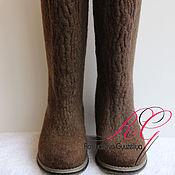 Обувь ручной работы. Ярмарка Мастеров - ручная работа Валяные сапожки Shibori. Handmade.