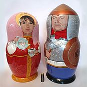 Русский стиль handmade. Livemaster - original item Nesting dolls with portraits.60 cm height. Handmade.