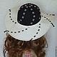 """Шляпы ручной работы. Заказать Шляпа из льна """"Белые ночи"""". Ирина (iresh). Ярмарка Мастеров. Черно-белое, летняя шляпа"""