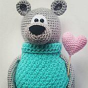 Куклы и игрушки ручной работы. Ярмарка Мастеров - ручная работа Мишутка с сердечком. Handmade.