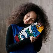 Классическая сумка ручной работы. Ярмарка Мастеров - ручная работа Сумка Котик на Рыбине из кожи или эко кожи. Handmade.