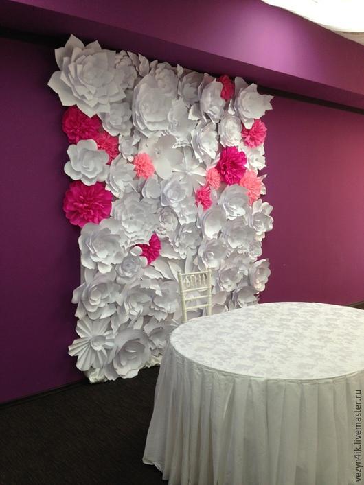 Свадебные цветы ручной работы. Ярмарка Мастеров - ручная работа. Купить Цветочный задник молодоженов 3х2 метра. Handmade.