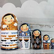 Русский стиль handmade. Livemaster - original item Interior Matryoshka Nordic 5m. Handmade.