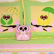 """Для дома и интерьера ручной работы. Ярмарка Мастеров - ручная работа Детский комплект """"Совы с зонтиками"""". Handmade."""