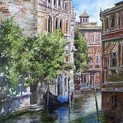 Pictures handmade. Livemaster - original item Picture - in the shadow of the channel. Venice. Handmade.