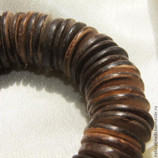 Для украшений ручной работы. Ярмарка Мастеров - ручная работа. Купить КОКОСОВЫЕ ДИСКИ бусины деревянные 10 шт. Handmade.