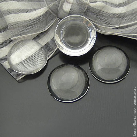 Для украшений ручной работы. Ярмарка Мастеров - ручная работа. Купить Кабошон Прозрачный (для картинок) стекло 20мм,18мм,12мм. Handmade.