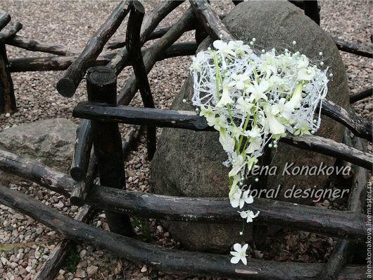 Свадебные цветы ручной работы. Ярмарка Мастеров - ручная работа. Купить Букет невесты Муфта. Handmade. Белый, свадебное украшение