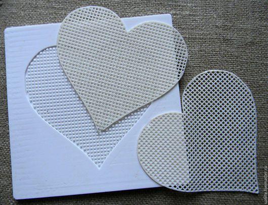 """Кухня ручной работы. Ярмарка Мастеров - ручная работа. Купить Молд """"Сетка под вышивку сердце"""". Handmade. Комбинированный"""