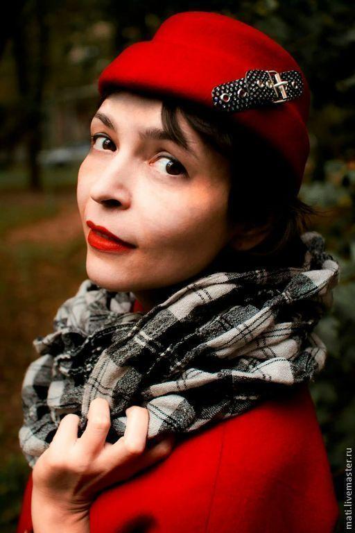 """Шляпы ручной работы. Ярмарка Мастеров - ручная работа. Купить шляпка """"Алиса"""". Handmade. Ярко-красный, декоративные элементы"""