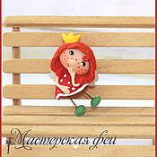 """Украшения ручной работы. Ярмарка Мастеров - ручная работа Феечка-брошка """"Девочка-принцесса"""". Handmade."""