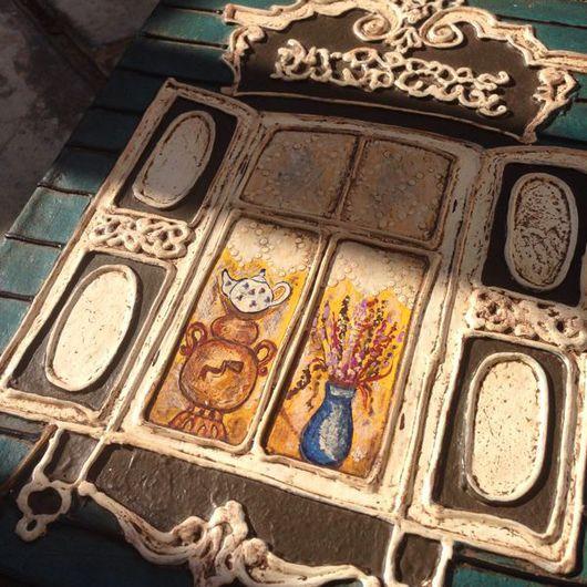 Город ручной работы. Ярмарка Мастеров - ручная работа. Купить Окно с самоваром.. Handmade. Окно, стильный подарок, воск