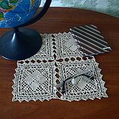 Для дома и интерьера ручной работы. Ярмарка Мастеров - ручная работа Квадратная мини салфетка. Handmade.