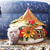 Для домашних животных, ручной работы. Ярмарка Мастеров - ручная работа Дом для кота. Handmade.