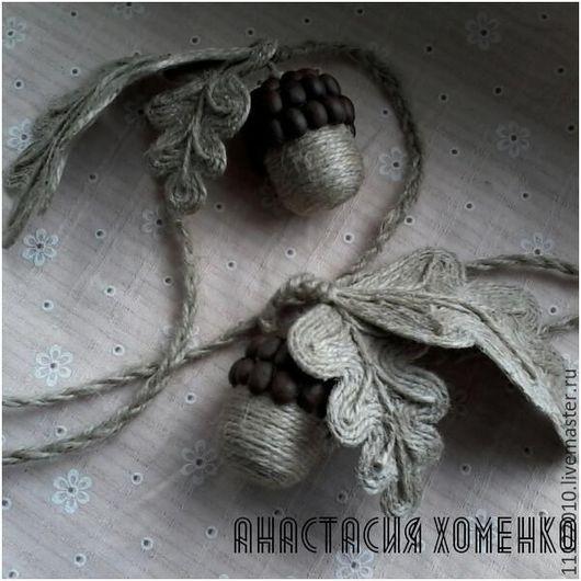 Текстиль, ковры ручной работы. Ярмарка Мастеров - ручная работа. Купить Подхваты для штор в деревенском бохо стиле. Handmade. Комбинированный