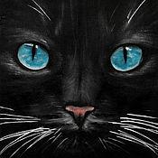 Картины и панно ручной работы. Ярмарка Мастеров - ручная работа В глубине морских глаз (18 х 24 см). Handmade.