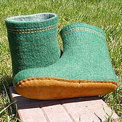 """Обувь ручной работы. Ярмарка Мастеров - ручная работа Валенки для дома """"Елки-2"""". Handmade."""