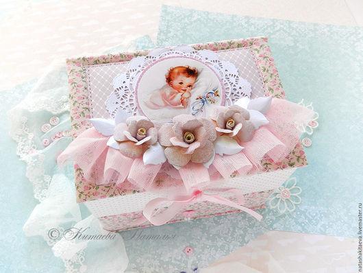 Подарки для новорожденных, ручной работы. Ярмарка Мастеров - ручная работа. Купить Мамины сокровища для девочки Комод. Handmade. Розовый