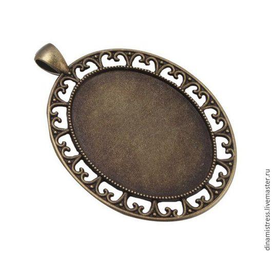 Для украшений ручной работы. Ярмарка Мастеров - ручная работа. Купить Кулон 40/30 мм. Цвет античная бронза.. Handmade.