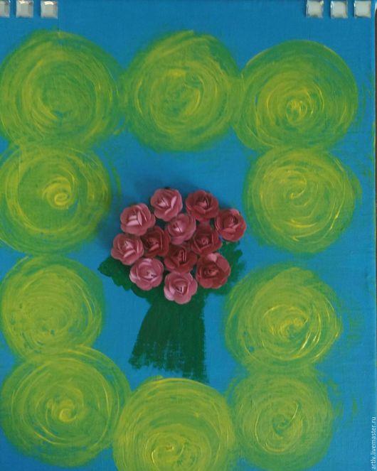 Картины цветов ручной работы. Ярмарка Мастеров - ручная работа. Купить Подарок. Handmade. Бордовый, синий, желтый, цветы, розы