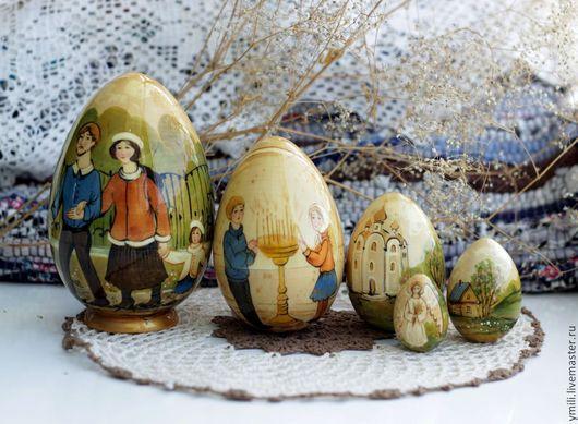 яйцо пасхальное авторское , 5мест, подарок на пасху семье, детям.