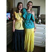 Одежда ручной работы. Ярмарка Мастеров - ручная работа желтая юбка из штапеля. Handmade.