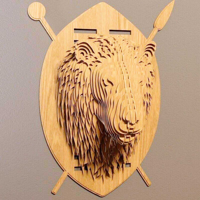 Декоративная голова льва на стену, Дизайн, Ростов-на-Дону, Фото №1